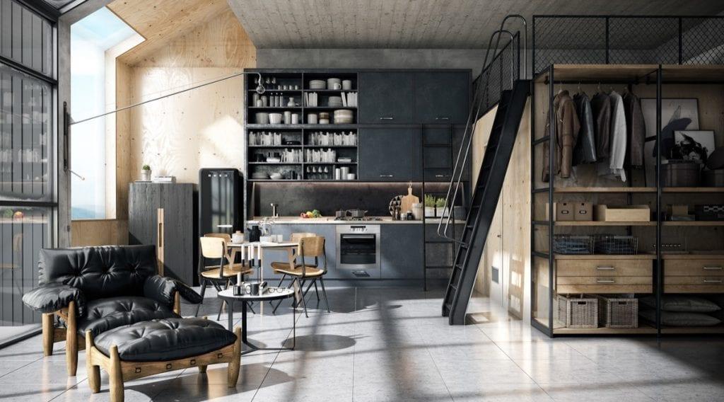 nhà bếp không gian mở