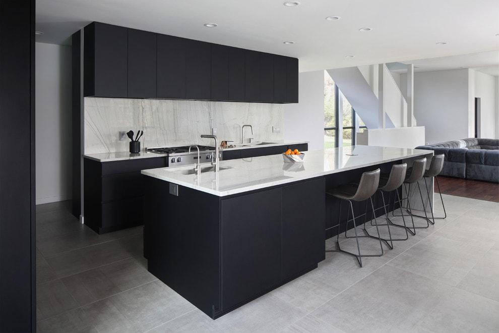 thiết kế phòng bếp không gian mở