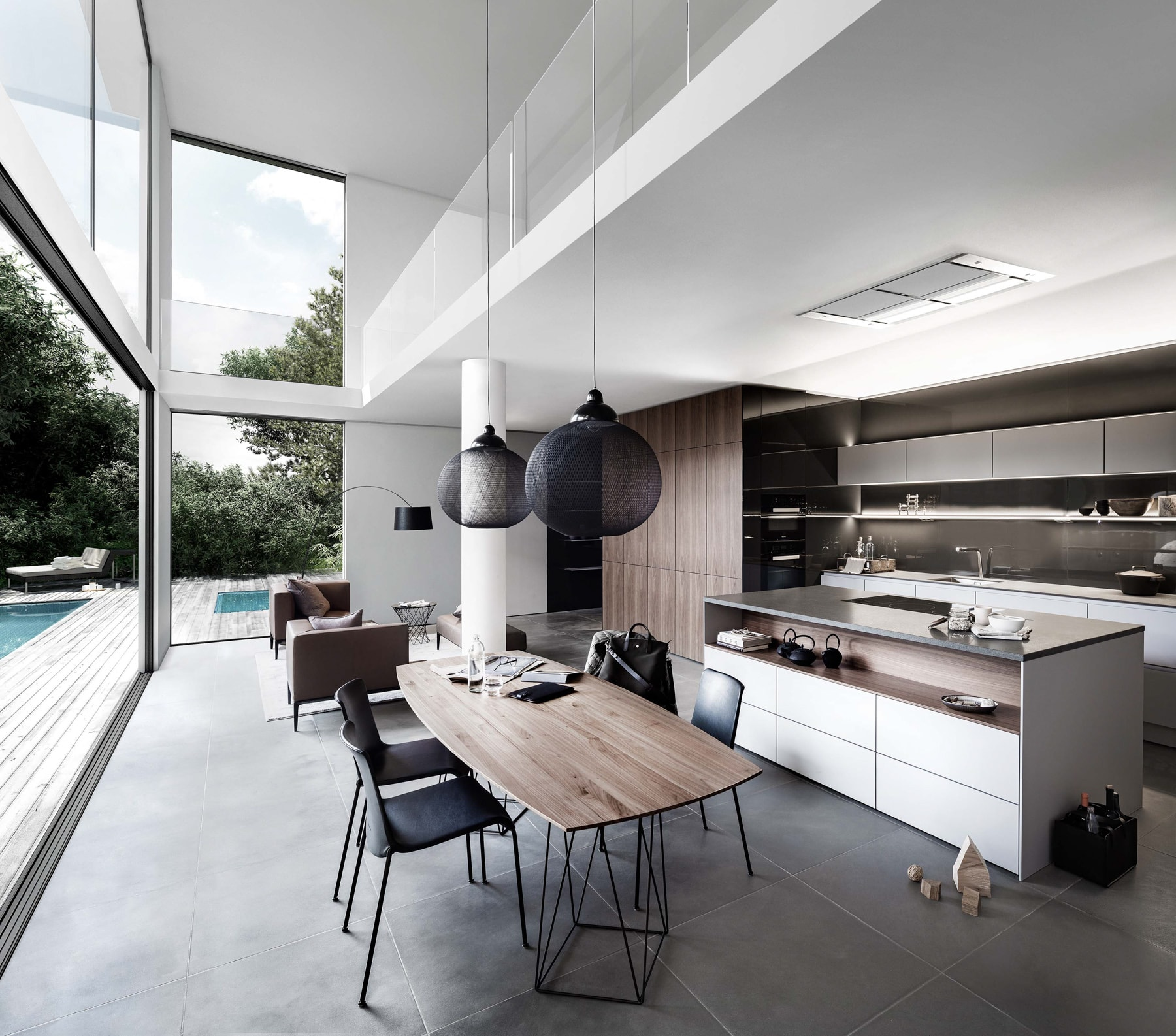 thiết kế nhà bếp không gian mở