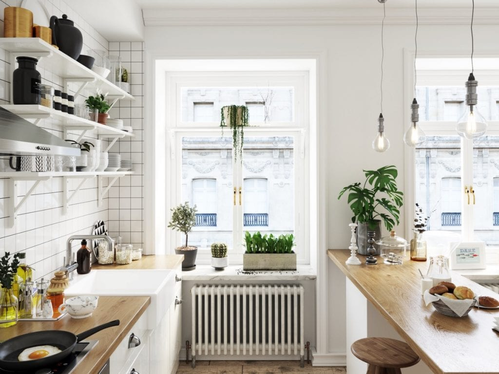 mẫu phòng bếp scandinavian