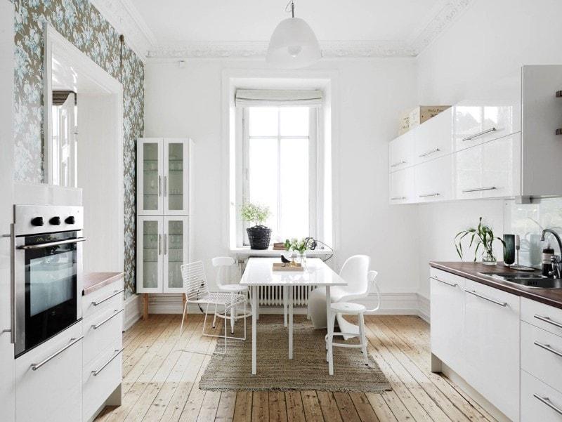 phòng bếp đẹp scandinavian