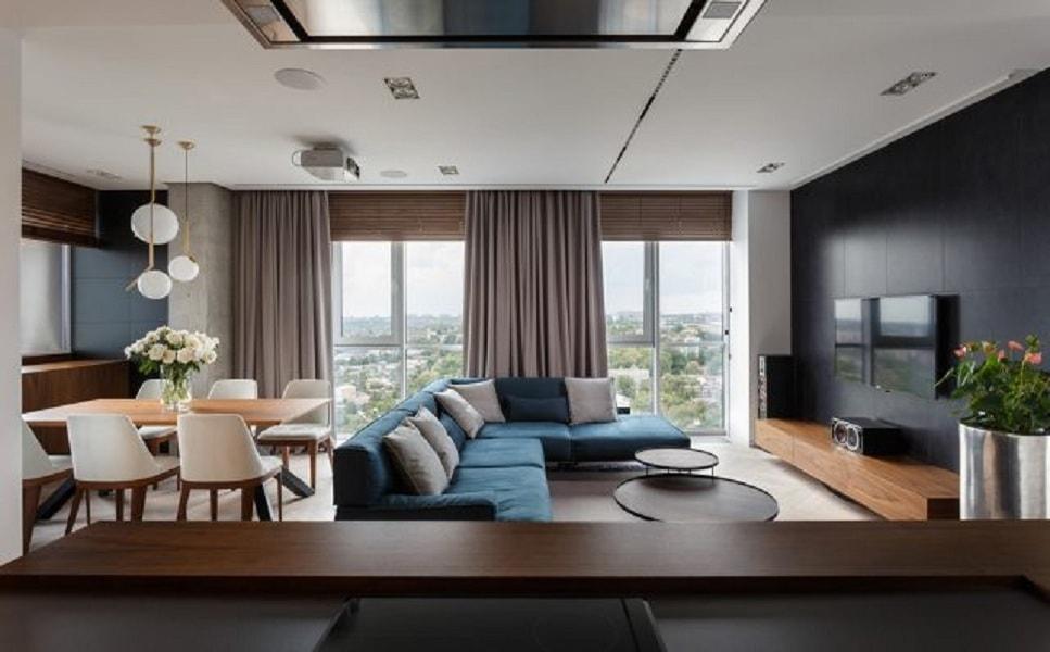 thiết kế phòng khách 40m2