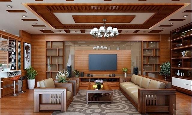phòng khách rộng 40m2