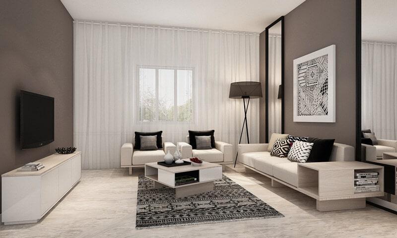 nội thất phòng khách 40m2