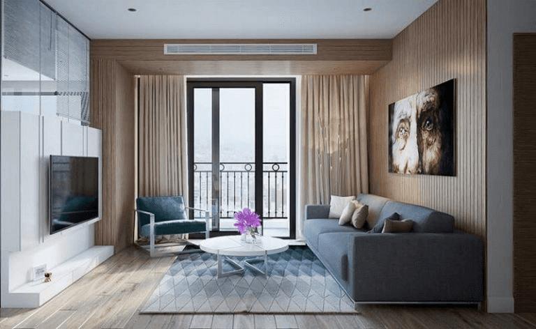 màu phòng khách chung cư nhỏ đẹp