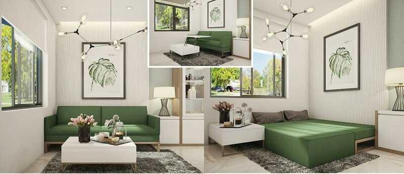 phòng khách chung cư nhỏ đẹp