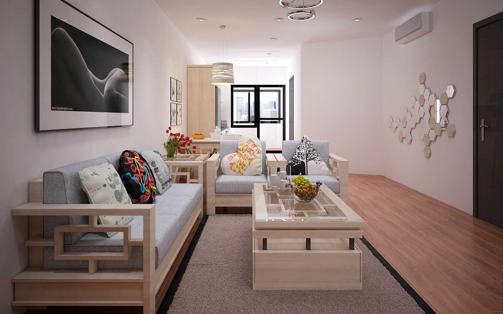 phòng khách nhà chung cư nhỏ