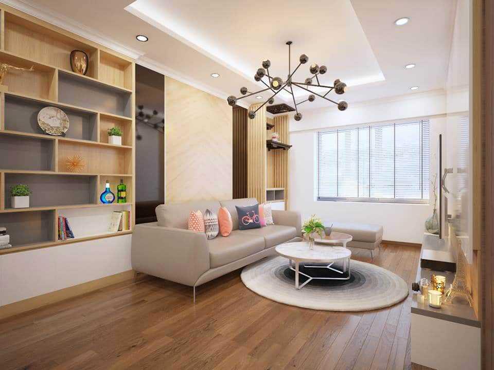 phòng khách bằng gỗ đẹp
