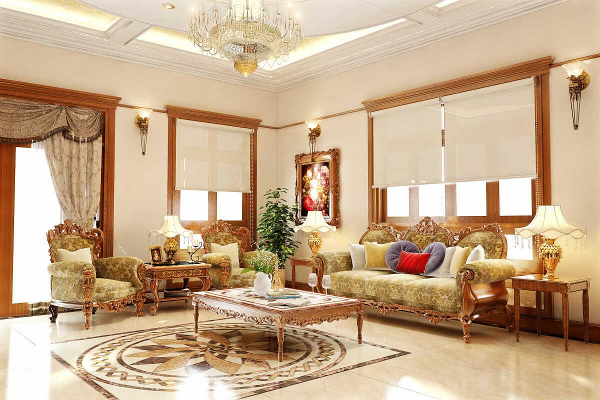 nội thất phòng khách hàn quốc