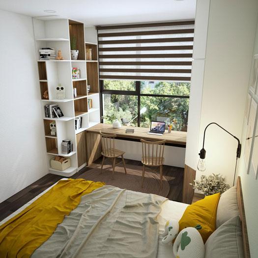 phòng ngủ đơn giản 5m2