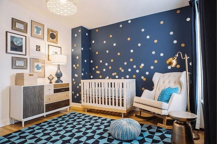 phòng màu xanh cho bé