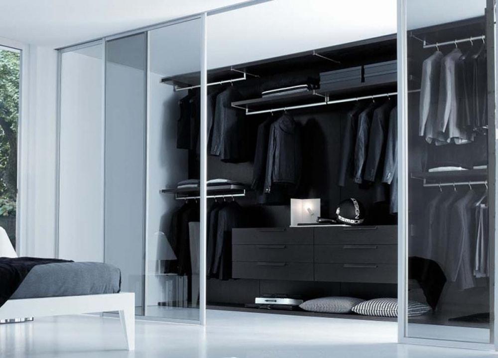 Mẫu thiết kế phòng thay đồ bằng kính