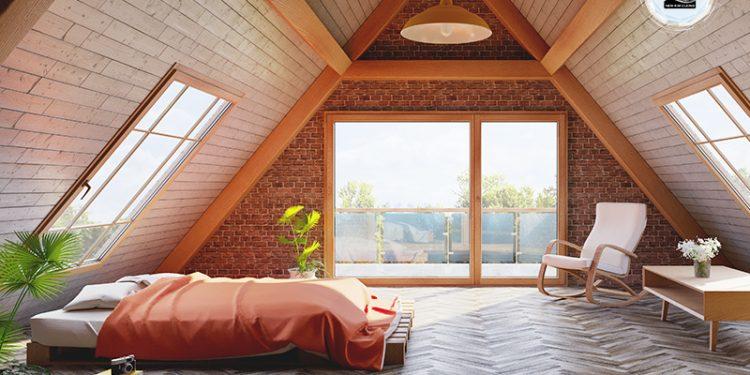 Phòng ngủ gác xép