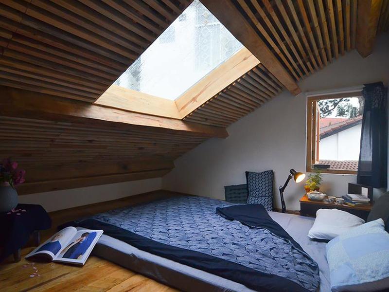 Thiết kế phòng ngủ gác mái