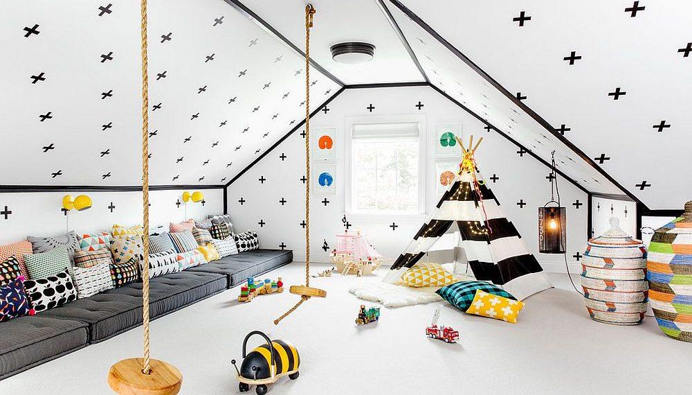 Phòng ngủ gác mái rực rỡ