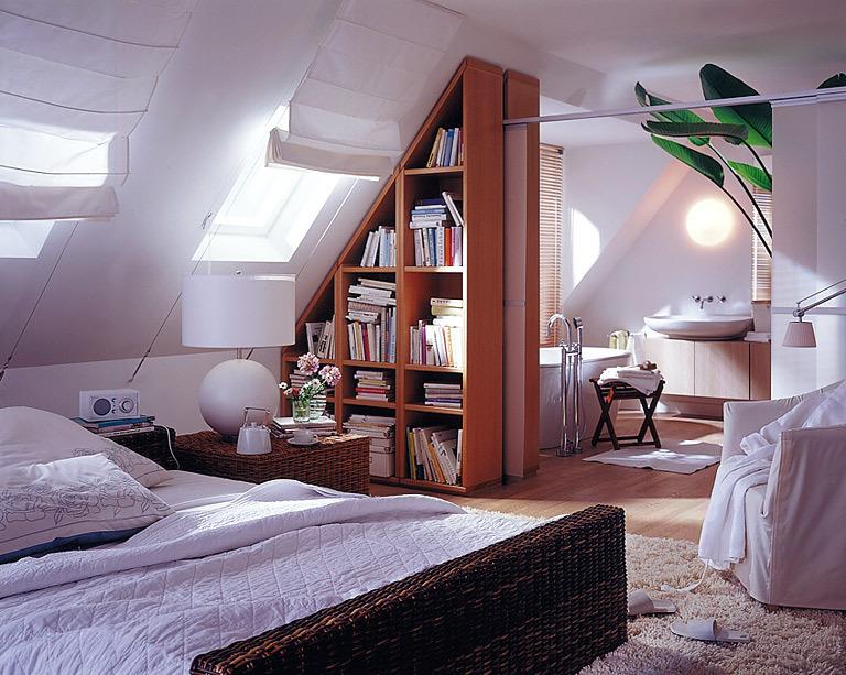Phòng ngủ trên gác xép