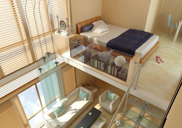 phòng ngủ có gác lửng đẹp