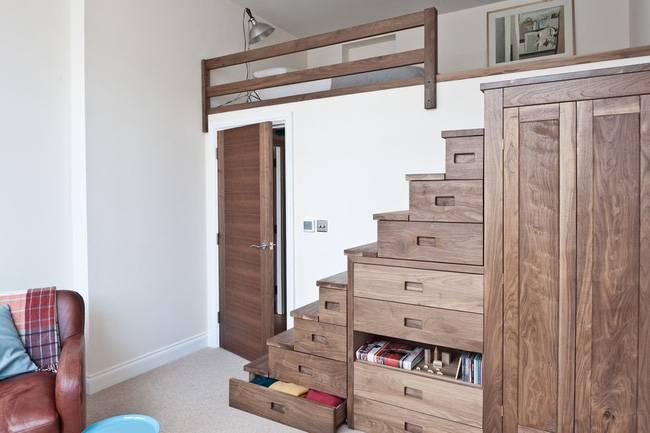 phòng ngủ nhỏ có gác lửng