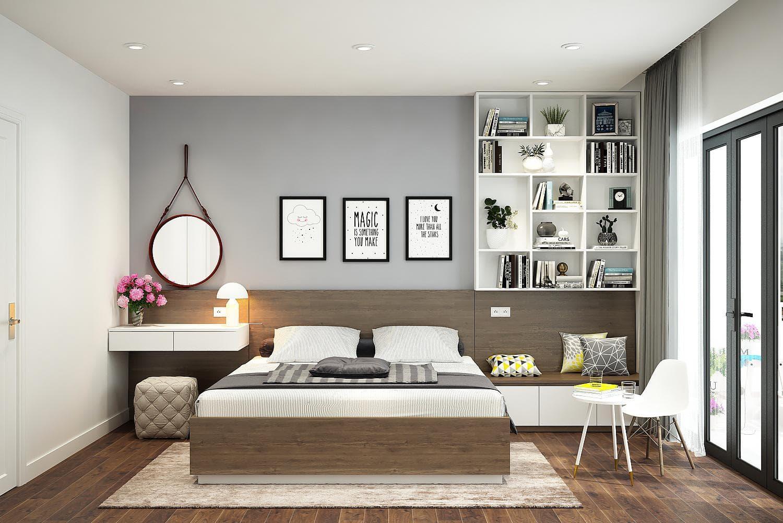 thiết kế phòng ngủ phong cách hàn quốc