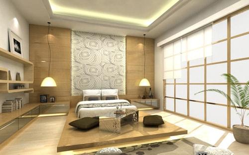 cách trang trí phòng ngủ kiểu nhật