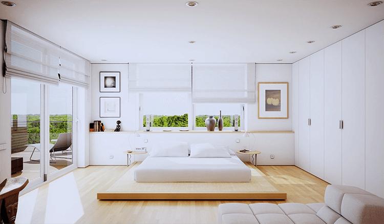 trang trí phòng ngủ kiểu nhật