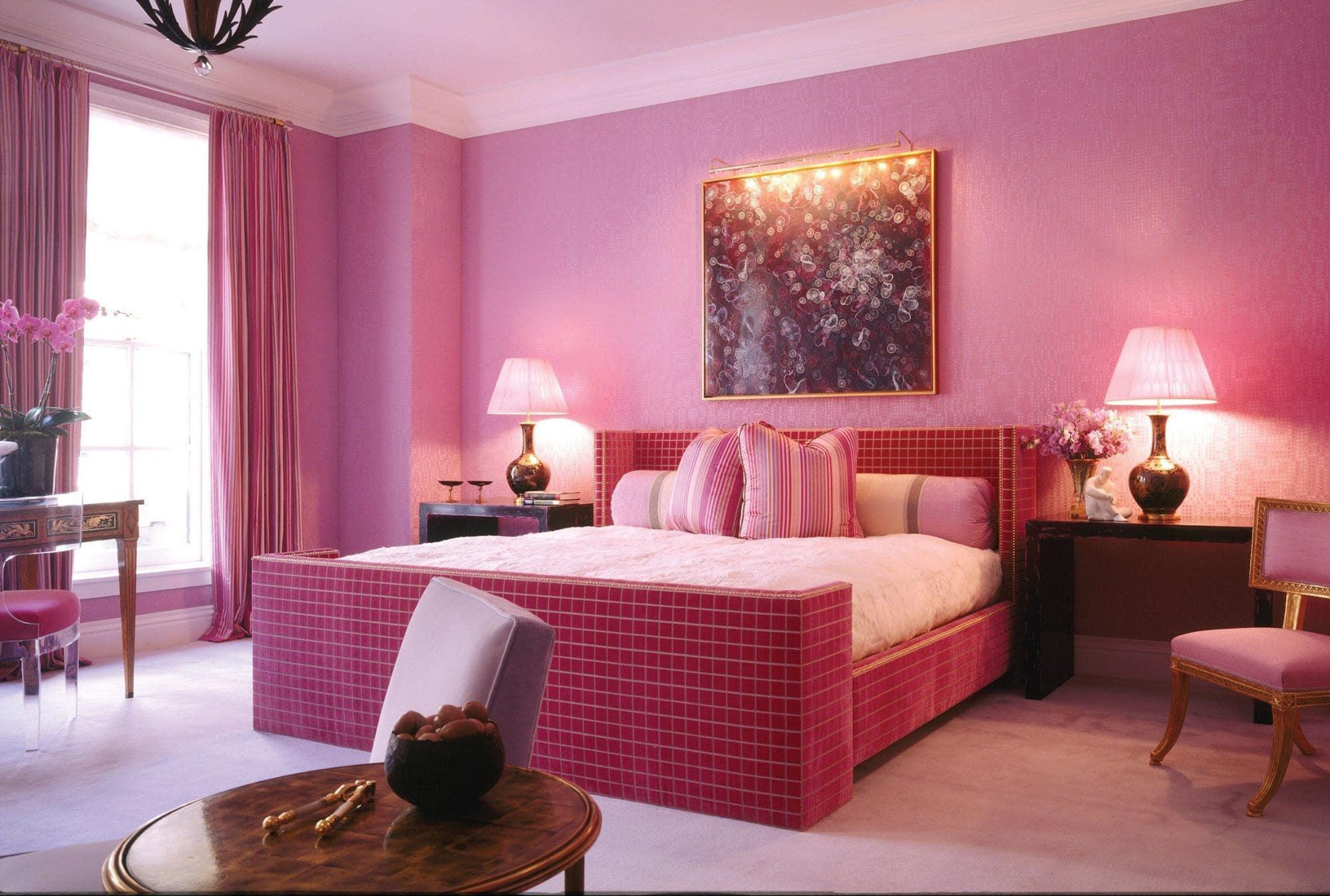 Phòng ngủ hồng
