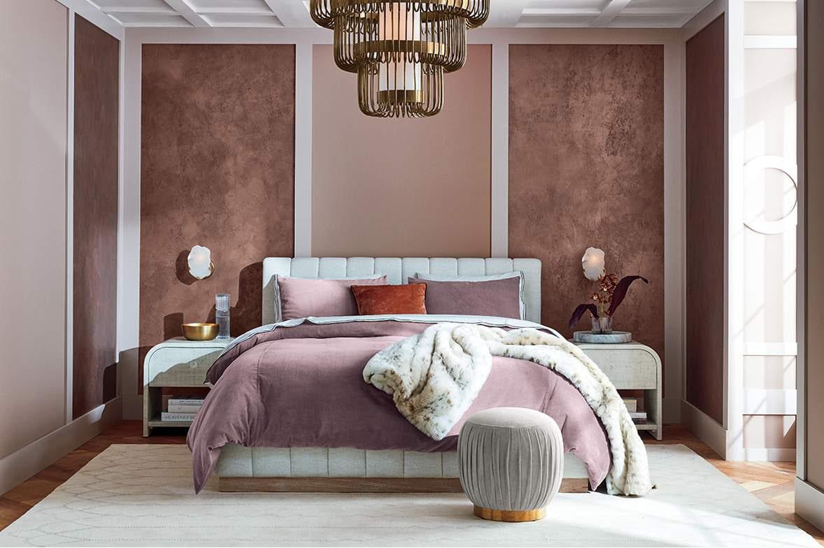 Phòng ngủ màu hồng thanh lịch