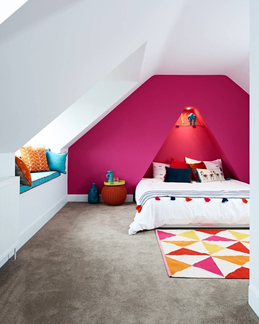 Phòng ngủ màu hồng