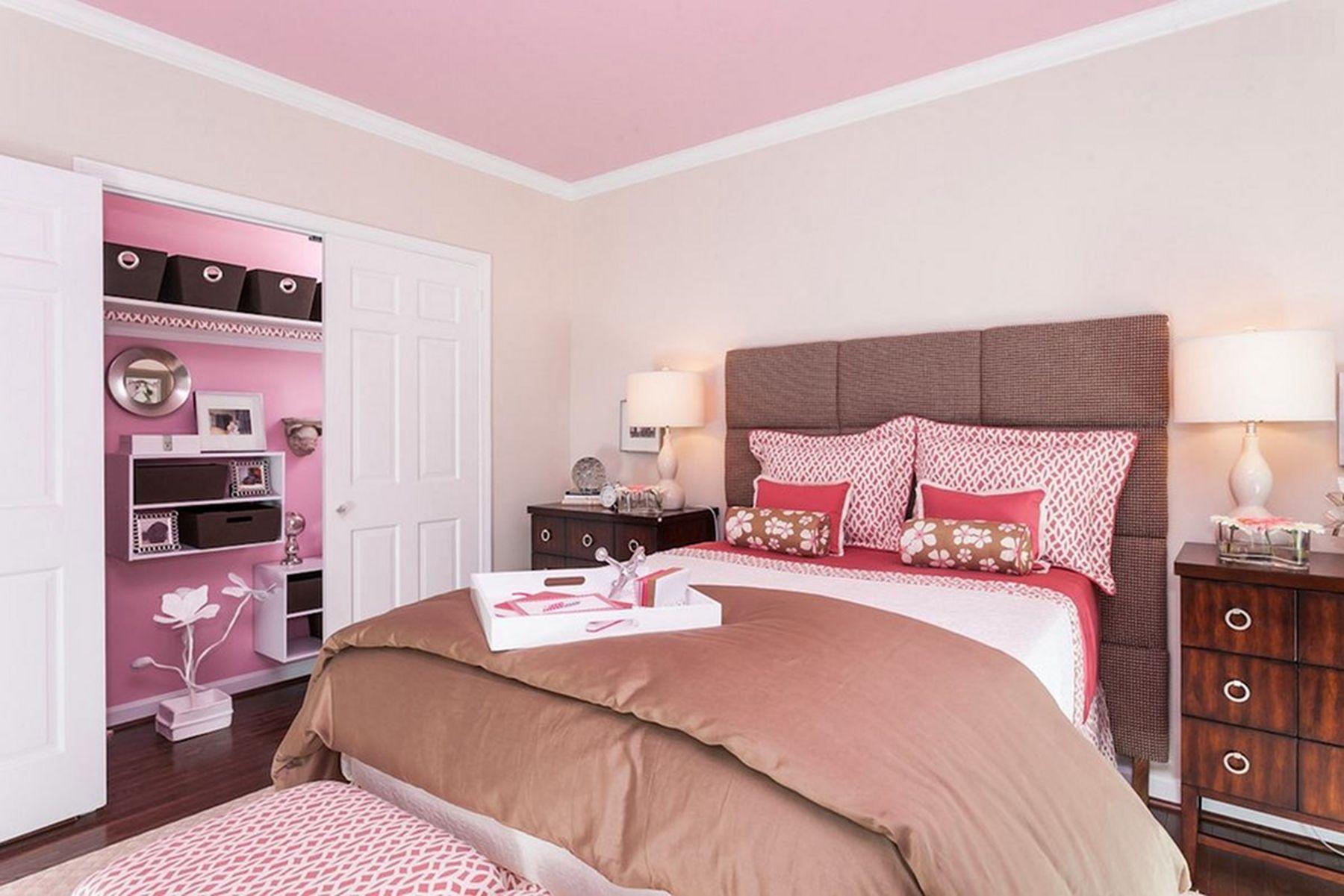Phòng ngủ màu hồng đẹp