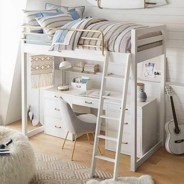 phòng ngủ màu đen trắng
