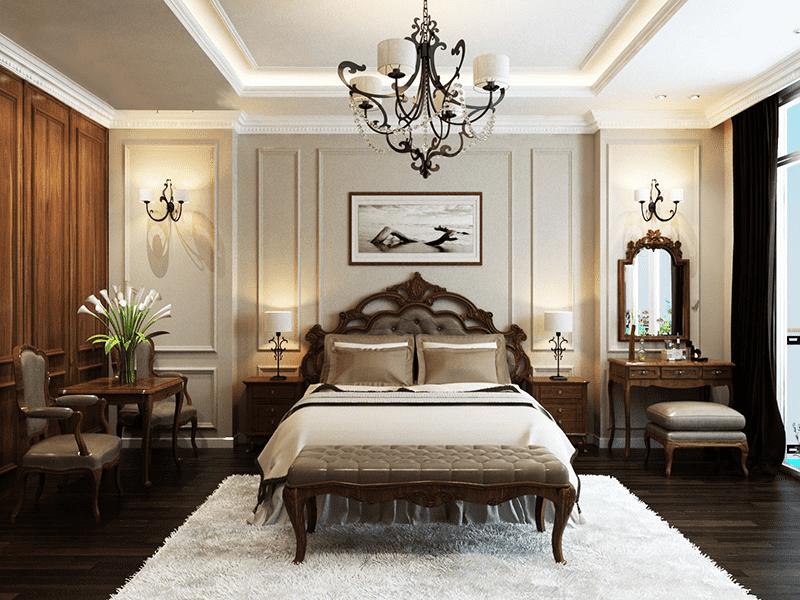 cách trang trí phòng ngủ màu trắng