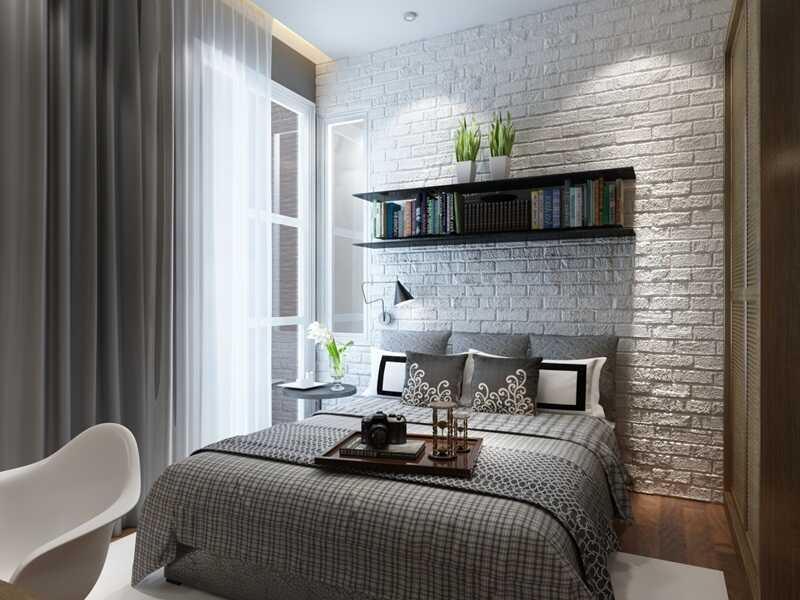phòng ngủ gam màu xám