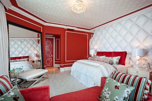 Phòng ngủ sơn màu đỏ