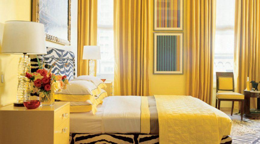 Phòng ngủ sơn màu vàng