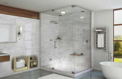 nhà tắm bằng kính