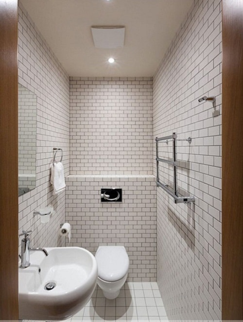 sắp xếp thiết bị nhà vệ sinh