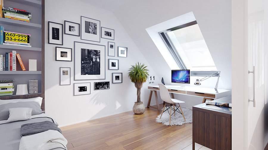 thiết kế phòng làm việc tại phòng ngủ