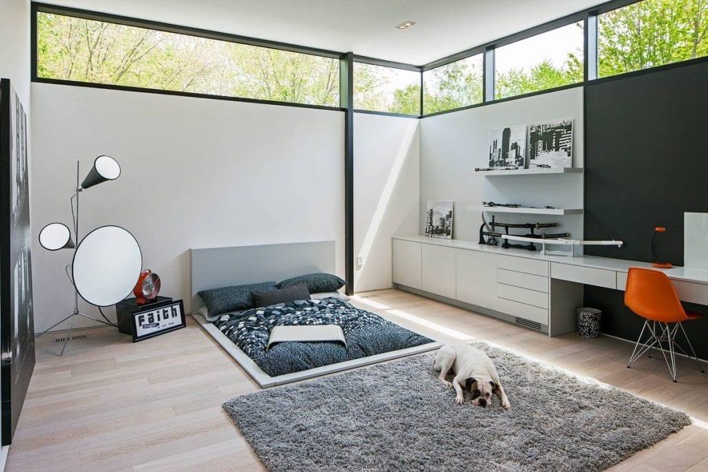 thiết kế phòng không giường