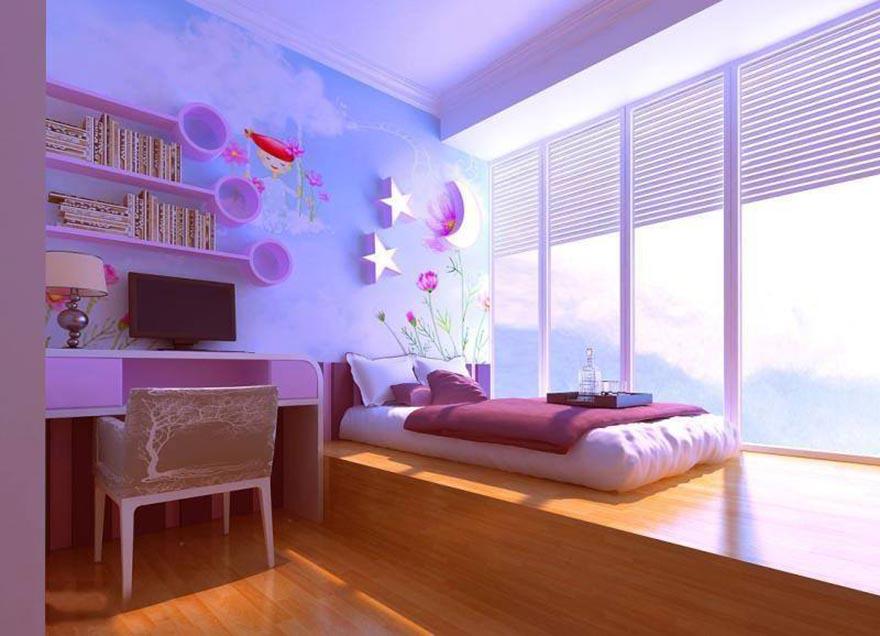 phòng ngủ không giường sàn gỗ