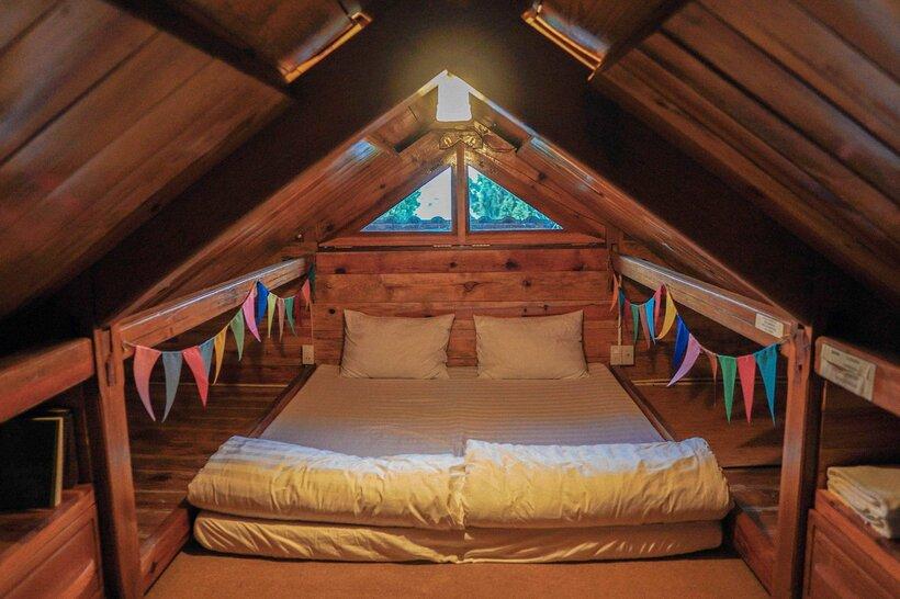 Mẫu thiết kế phòng ngủ không cần giường