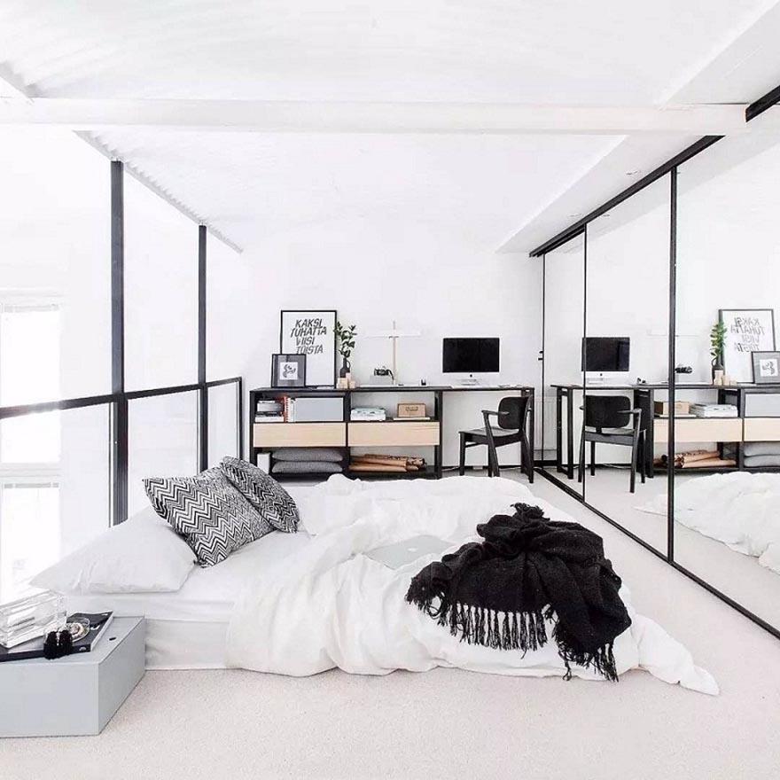 phòng ngủ không cần giường