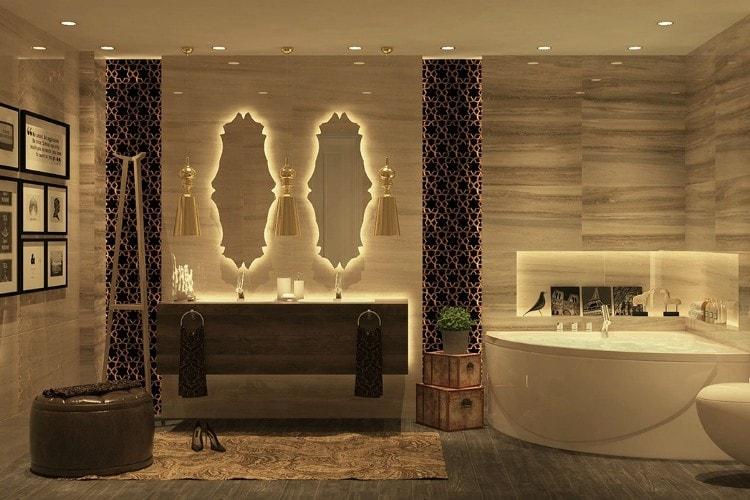 Phòng tắm 10m2 sang trọng, cao cấp