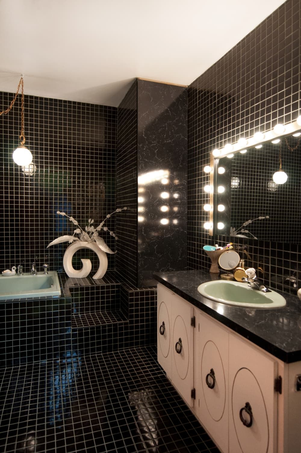Phòng tắm 10m2 theo phong cách Retro