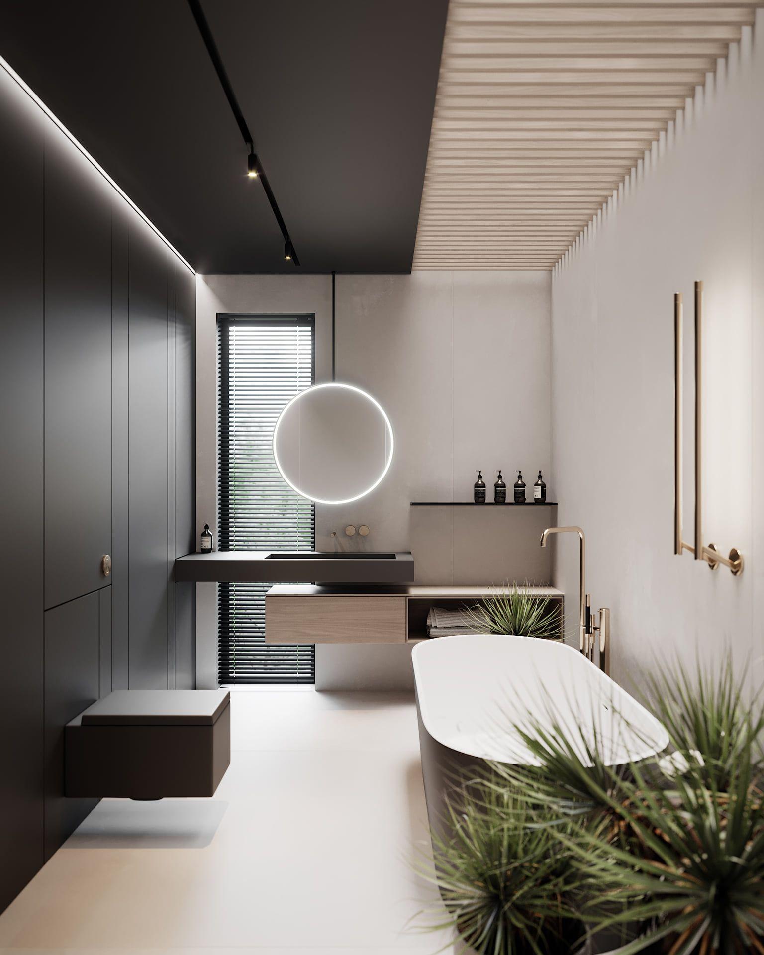 nhà tắm 10m2 đẹp theo phong cách hiện đại