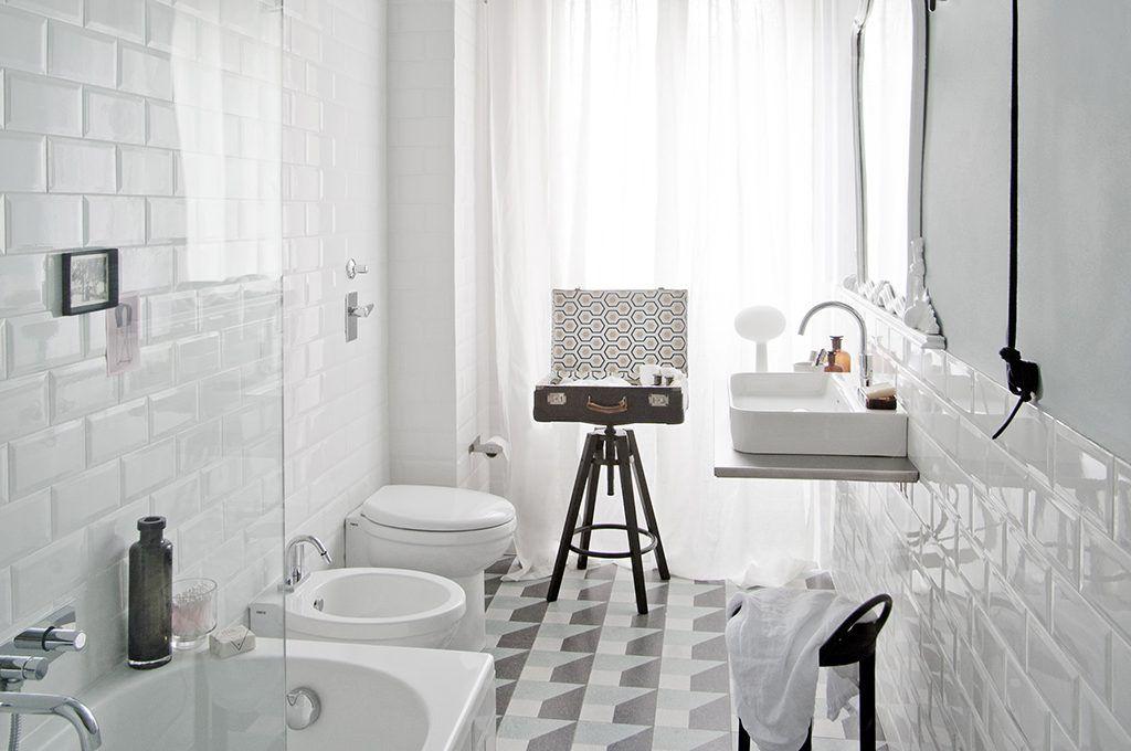 thiết kế phòng tắm 10m2 đẹp theo phong cách Retro