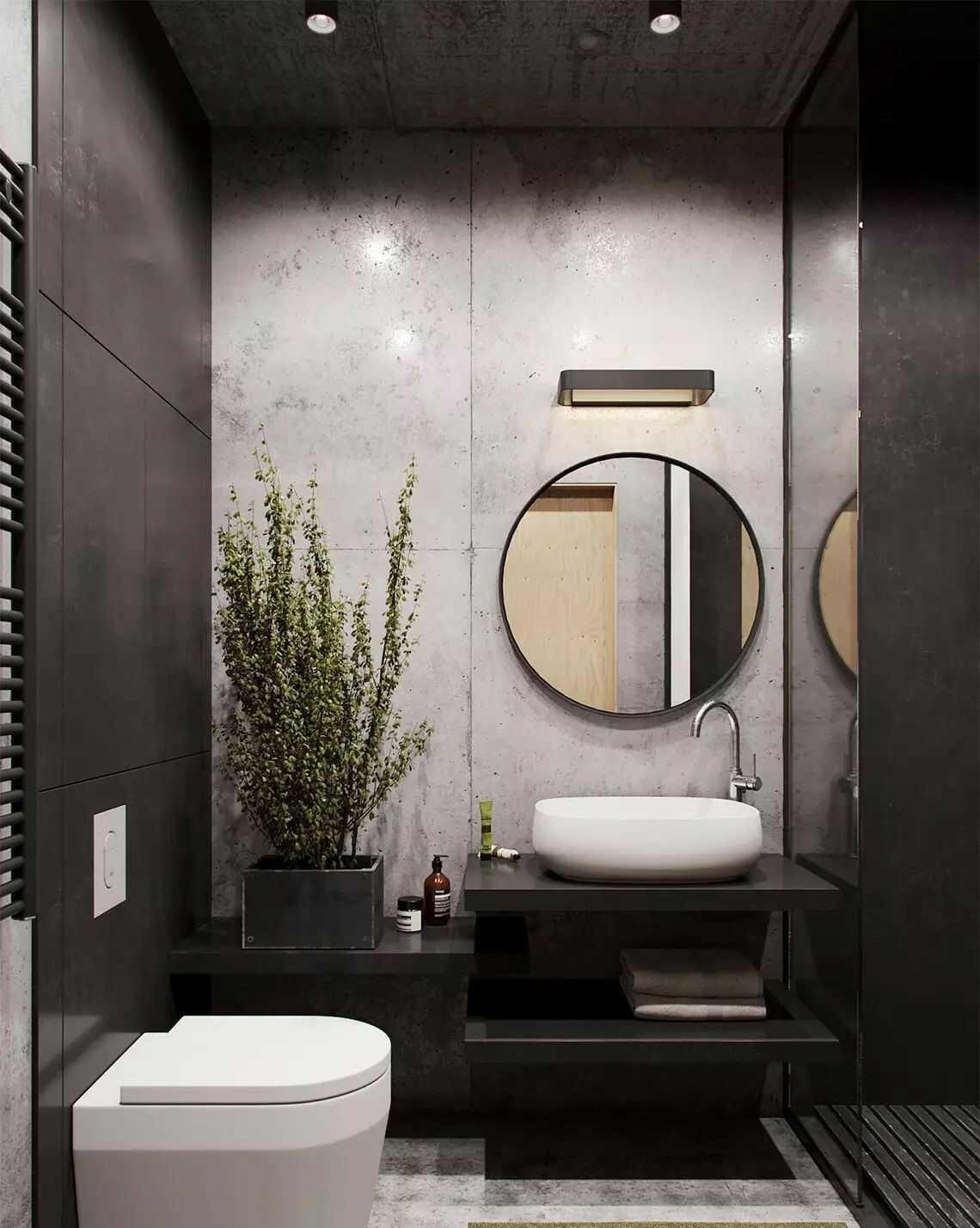 thiết kế phòng tắm 3m2