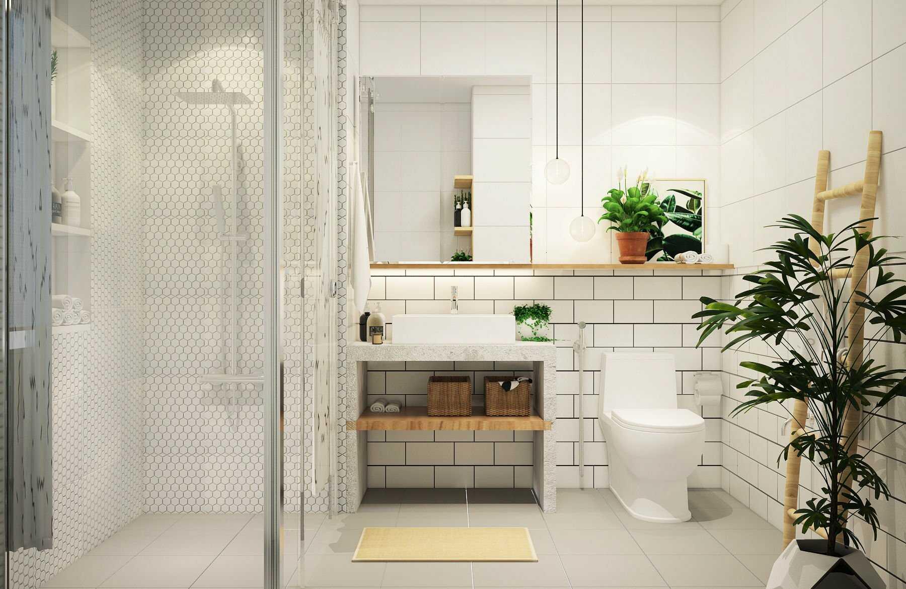 thiết kế phòng tắm 2m2