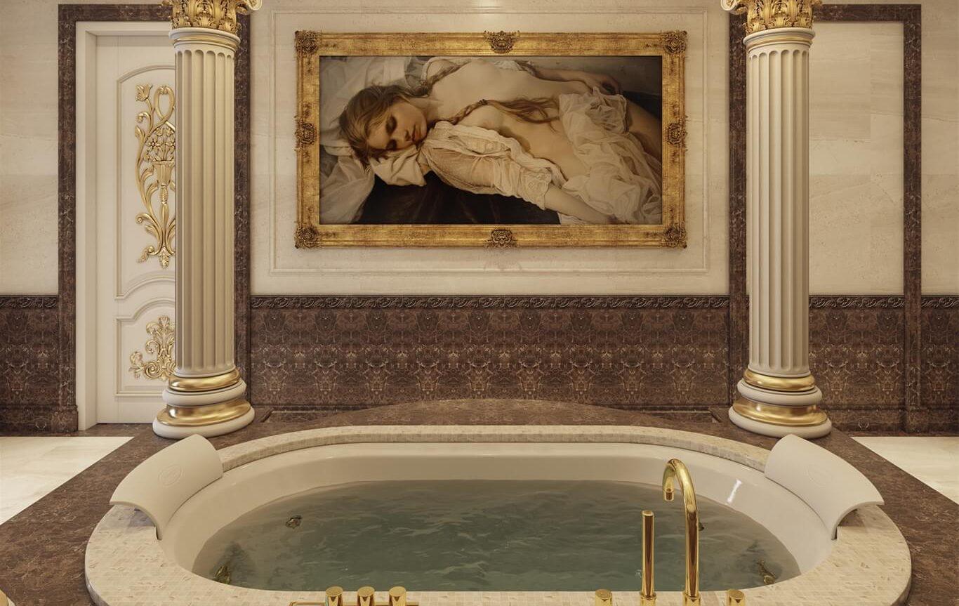 Phòng tắm theo phong cách cổ điển