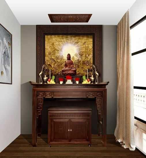 thiết kế bàn thờ chung cư đẹp