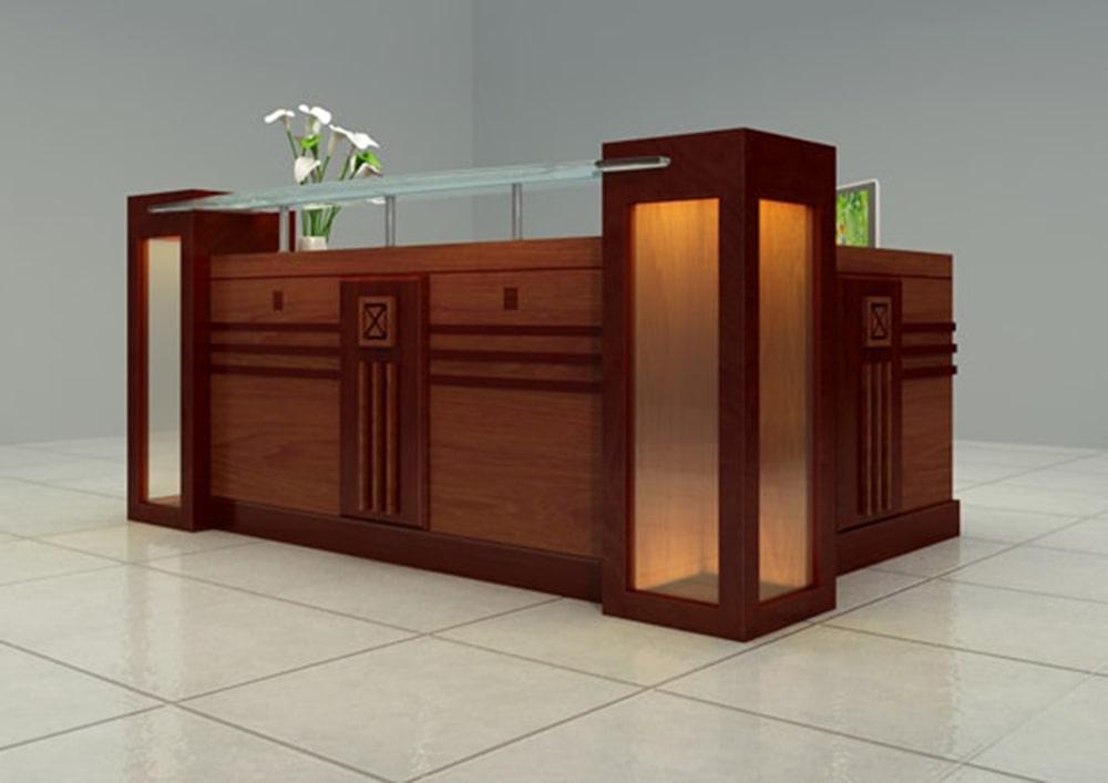 thiết kế quầy lễ tân văn phòng